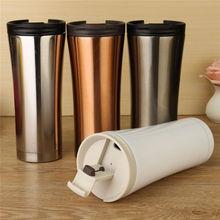 500 ml Doppelwand Aus Edelstahl Kaffeemilch Becher Saugnapf Isolierung Thermoskanne Thermocup Tumbler Sport Wasserflasche