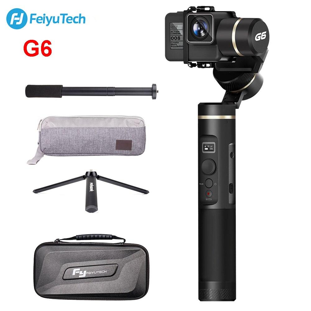 FeiyuTech G6 Éclaboussures De Poche Cardan D'action Caméra Wifi + Bleu Dent OLED Écran Élévation Angle pour Gopro Hero 6 5 Sony RX0