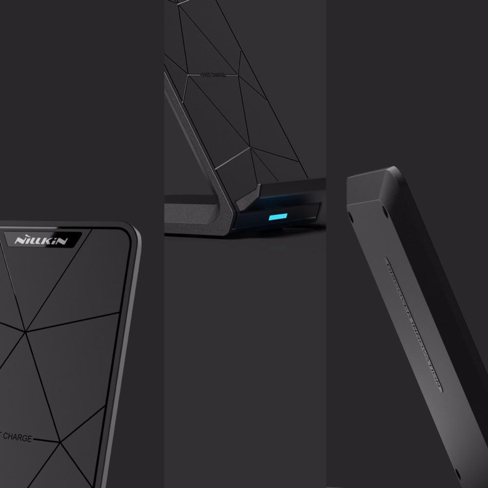 Nillkin sürətli simsiz şarj cihazı iPhone X 8 7 6s 6 Plus Samsung - Cib telefonu aksesuarları və hissələri - Fotoqrafiya 4