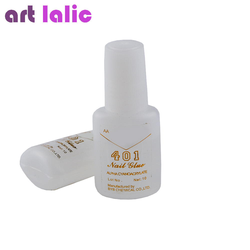 5 Pz / set Nail Art Asciugatura rapida Bellezza False Art Decorate Consigli Colla acrilica con spazzole 10g