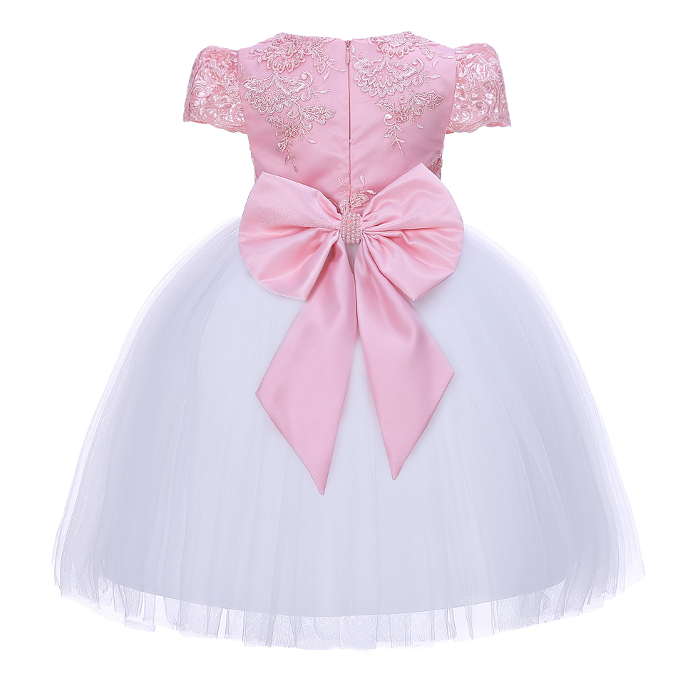 Image 2 - Pettigirl Girls Flower Feast Party Dress Big Bow Beading Pink  Princess Dress With Hairhand Kids Boutique Wedding Clothes 1082princess  dresspink princess dresspink princess