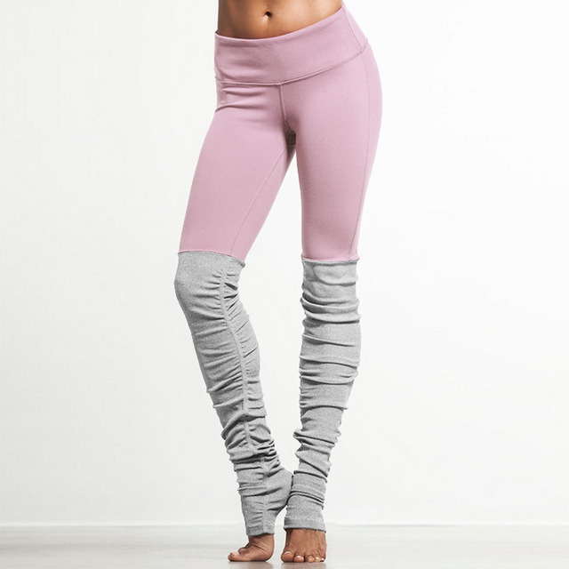 2016 New Candy Color Goddess Ribbed Leggings High Waist Skinny Yuga Pants Wicking Polyester Legins Women Fitness Workout Legging