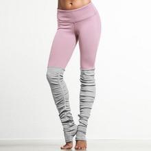 2016 New Candy Color Goddess Ribbed Leggings High Waist Skinny Yuga Pants Wicking Polyester Legins Women Fitness Workout Legging