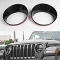 Für Jeep Wrangler JL 2018 + Auto Front Licht Lampe Dekoration Ring Trim Styling ABS Zubehör-in Chrom-Styling aus Kraftfahrzeuge und Motorräder bei