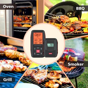 Image 5 - Inkbird IRF 2SA 150M/500ft Red Color Wireless Digital Meat BBQ Thermometer with Dual Probe for Cooking BBQ Grill Oven Smoker C/F