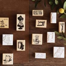 Vintage  time series wooden rubber stamps for scrapbooking stationery DIY standard wood stamp