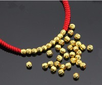 10pcs Pure 999 Solid 24k Yellow Gold Loose Beads Pendant