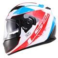 100% Genuino de la marca famosa de la cara llena racing capacete casco de moto casco de doble lente De fibra de Vidrio hombre casco ls2 ff320