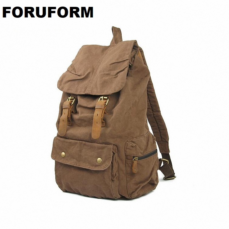 Free Shipping Vintage Canvas Backpack Rucksack Mountaineering Man/ Women /school Backpack SLR Camera Bag LI-831 free shipping genuine lowepro fastpack bp 250 ii aw dslr multifunction day 250aw digital slr rucksack new camera backpack
