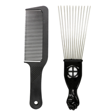 Get more info on the Pro 2 Pieces Lot Anti Slide 3D Men Hair Trimming Comb Big Size Stainless Steel Afro Comb For Hairstyling Perfect Hair Comb Kits
