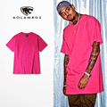 Mens T Shirts Pink tee 2016 fashion tide brand t-shirts hip hop men cotton O-Neck short sleeve tee Chris Brown 11 solid colors