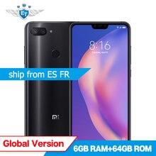 Küresel Sürüm Xiao mi mi 8 Lite 4 GB 64 GB Snapdragon 660 6.26 ''tam ekran Cep Telefonu AI 24MP ön Kamera Çift Arka Kamera