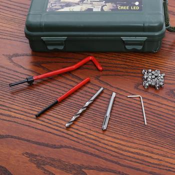 M5 samochodu Pro cewki wiertarka gwint metryczny zestaw naprawczy dla Helicoil narzędzia do naprawy samochodu gruba łom ząb śruby ZESTAW DO NAPRAWIANIA tanie i dobre opinie Drzewa wstaw Obróbka metali