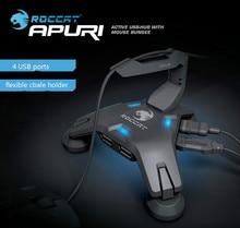 Roccat apuri активность usb-концентратор с мышью банджи, мышь шнура держатель, мышь шнур клип, Новый В Коробке и Оригинальный, бесплатная доставка