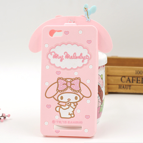 Shockproof 3D Lovely Cartoon Kitty My Melody Cover Case For Highscreen Power Ice (5.0 inch