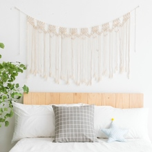 Handcrafted Macrame Wedding Backdrop Hanging Drop Cotton Thread Bohemian Style Beach Decor
