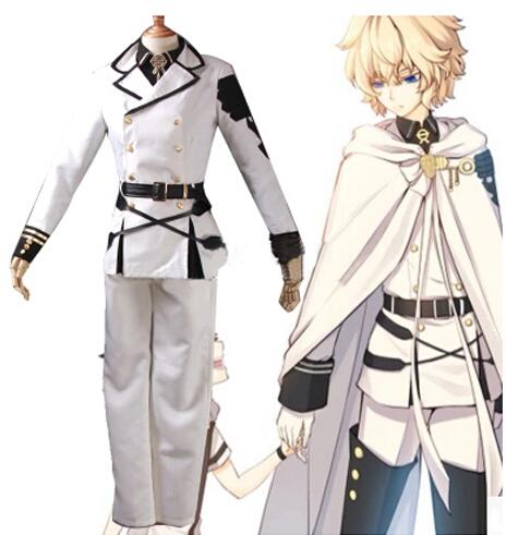 Seraph of the end Hyakuya Mikaera cosplay costume anime clothes Carnival costume for men Military uniforms suit