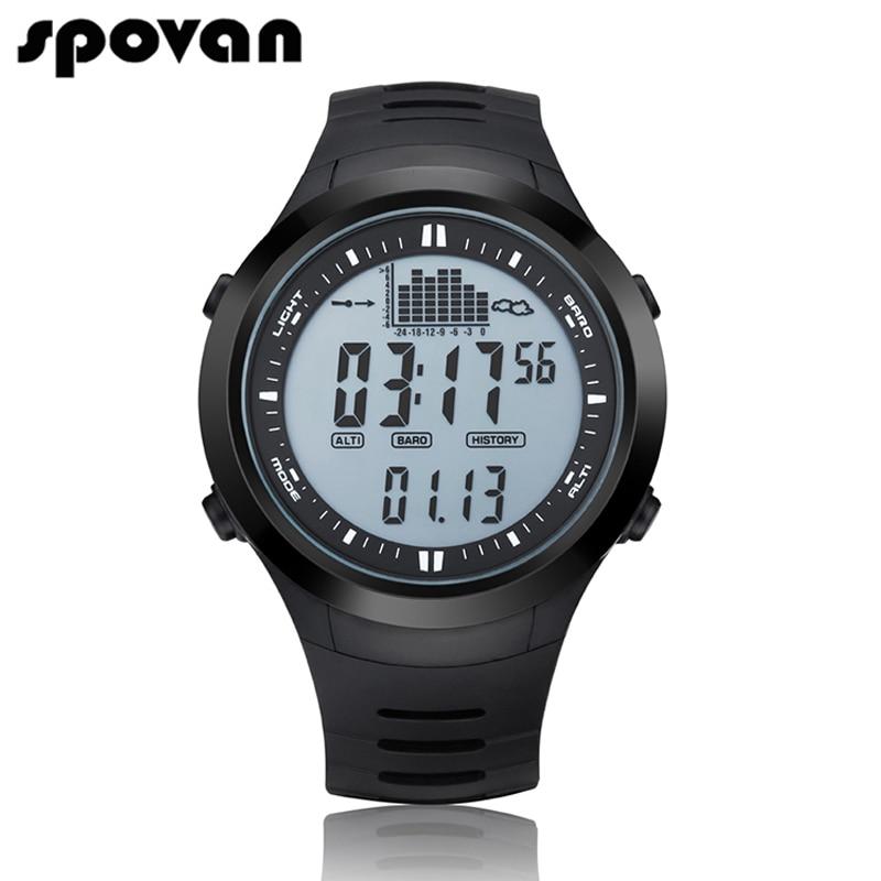SPOVAN Digital Men's Sports Watch Outdoor 164FT Waterproof with LED Backlight/Fi