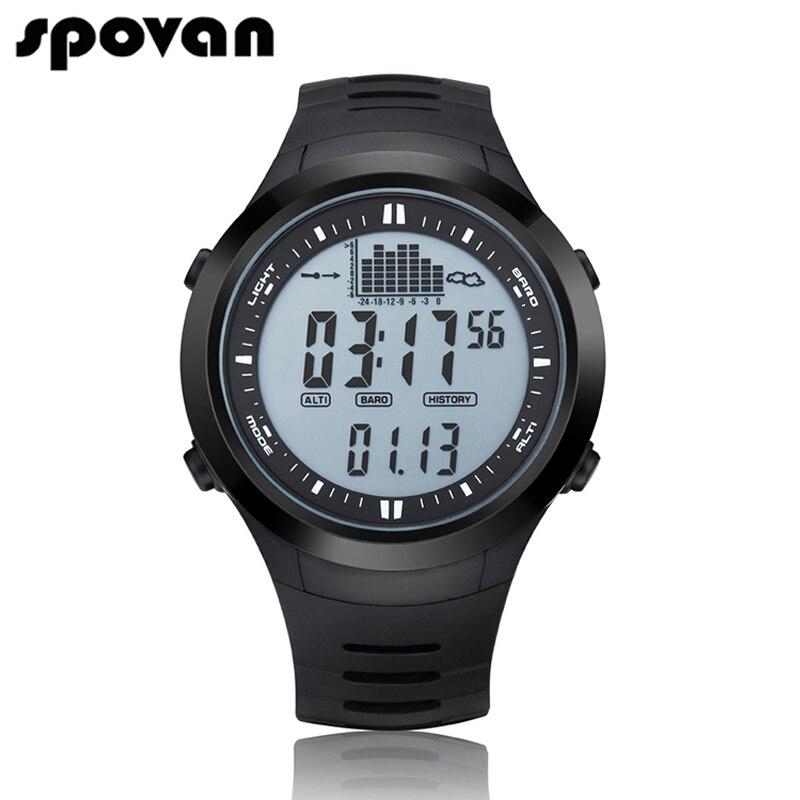 SPOVAN Luxury Digital Mens Sports Watch Outdoor 164FT Waterproof with LED Backlight/Fishing Remind/Alarm SPV709