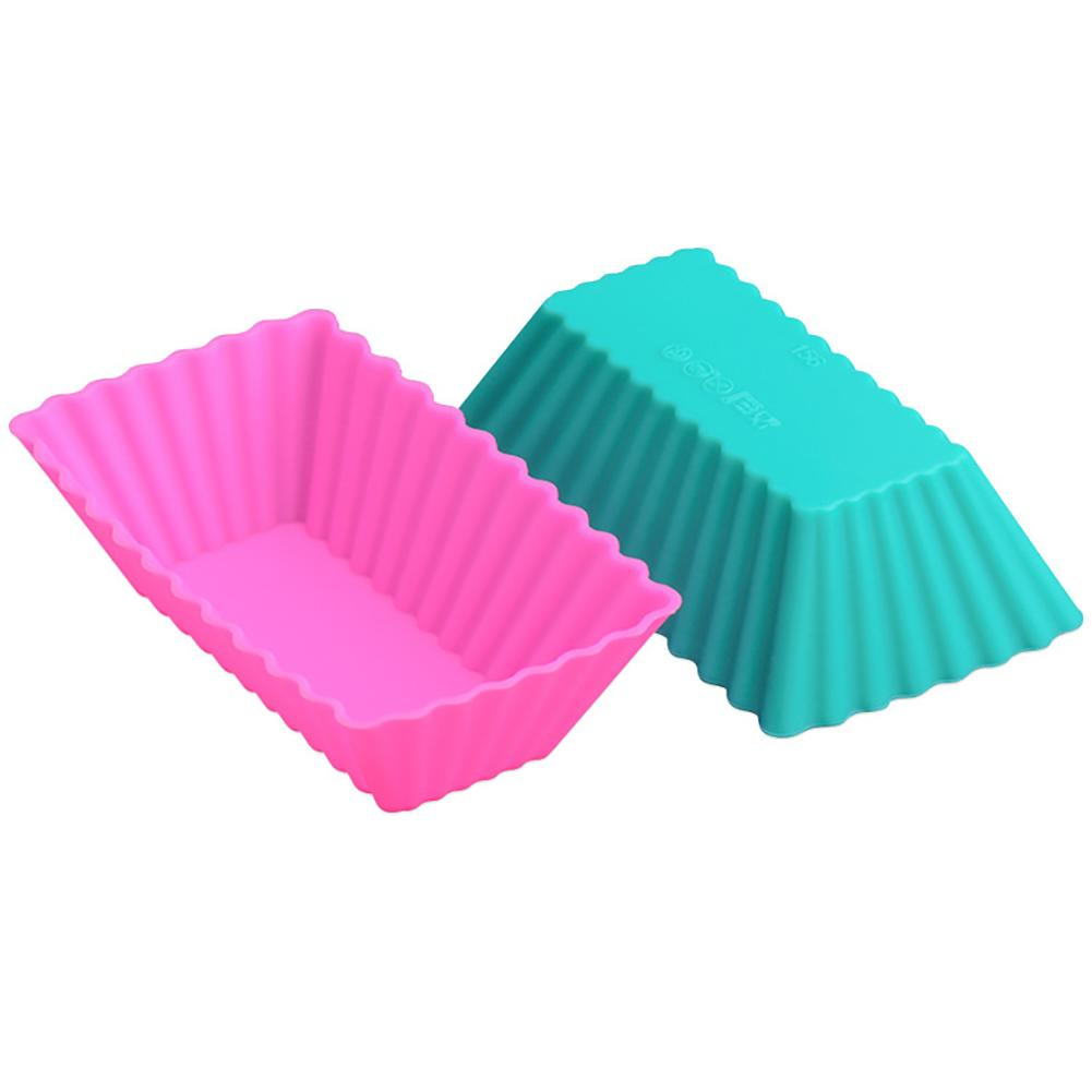 12pcs Cake Mold Food Grade Silicone DIY Cake Jelly Chocolate Making Rectangular Muffin Cup Baking Tools Can Be Used Repeatedly in Cake Molds from Home Garden