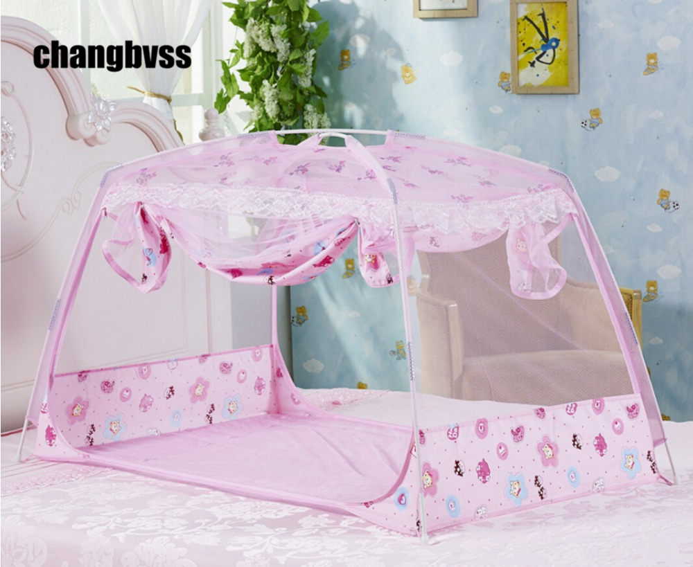 Freeshipping Folding Baby Cot Mosquito Net Todder Crib
