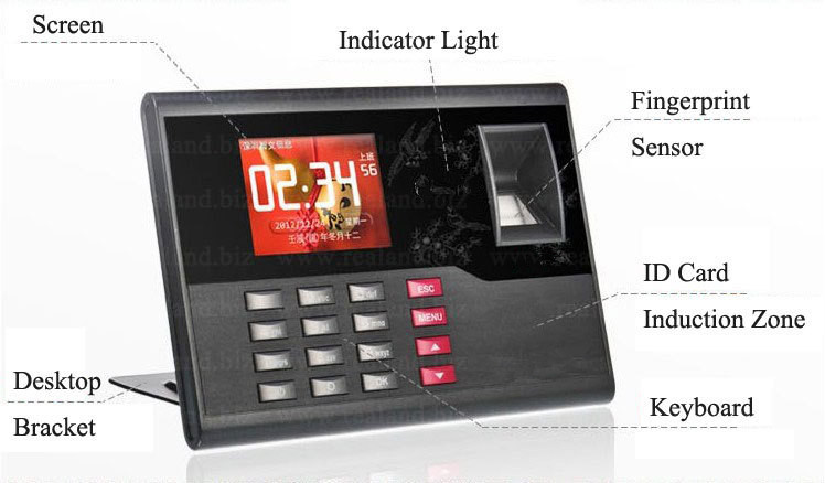 Biometric Fingerprint Time Attendance TFT Energy-Saving Recorder Clock System Recording RFID Card Free Shipping guard tour system patrol system time cotnroller v4 card reader 125khz time recorder in stock free shipping