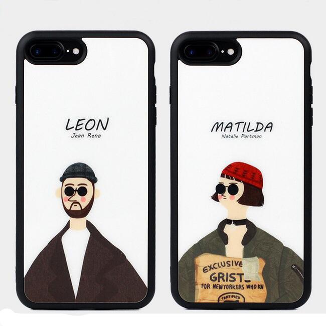 bilder für Hot Film Mörder Leon Matilda Handy Für iphone 6 6 S Plus 7 7 Plus Cartoon Rückseite schutz Fundas (SS0728)