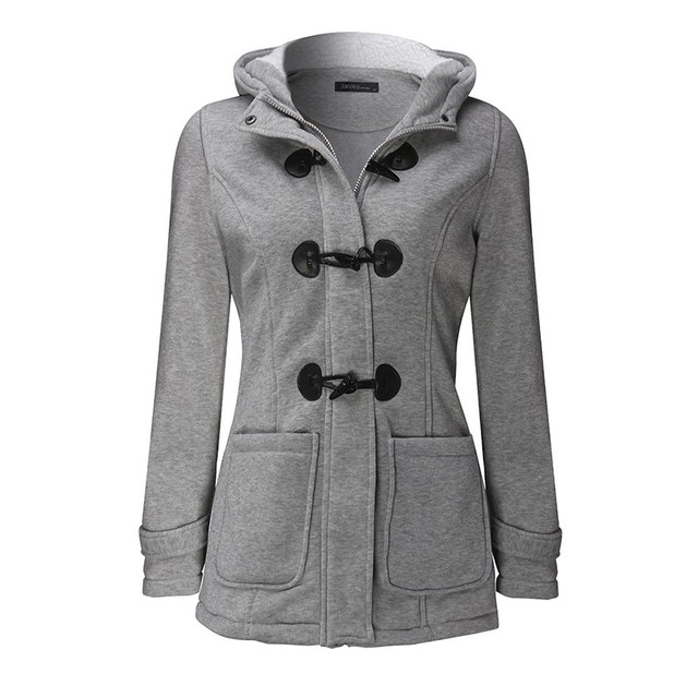 Hot Sale Women Sweatshirts 2016 Winter Coats Thick Fleece Hooded Jacket Long Sleeve Casual Overcoats Outerwear Plus Size