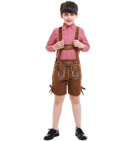 kid fashion boy Germany Bavaria Oktoberfest beer festival work clothes Costume Halloween Carnival Party Cosplay  A109