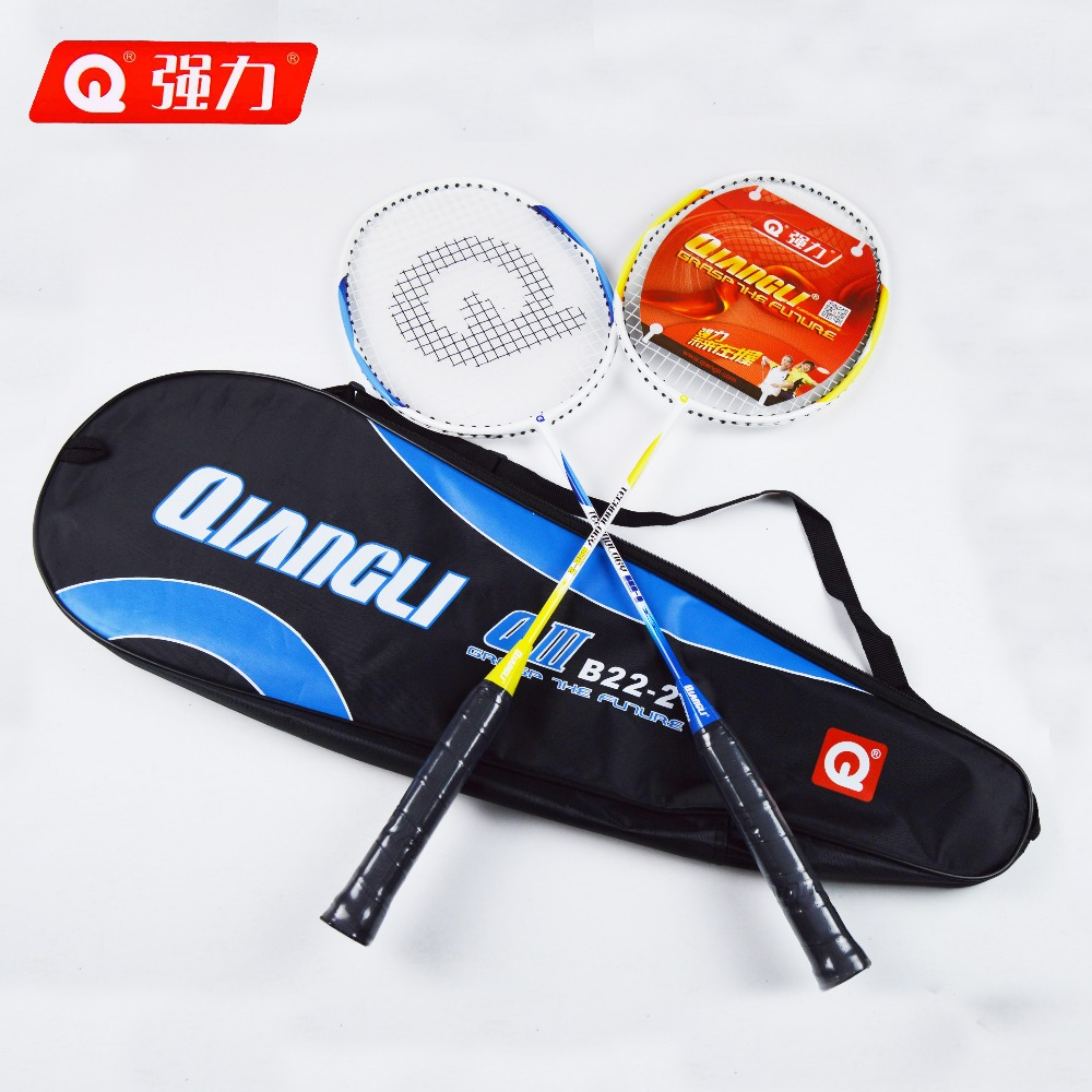 2Pcs/pair Authentic Qiangli B22-2 Aluminum badminton racket badminton raquette badminton badminton rackets