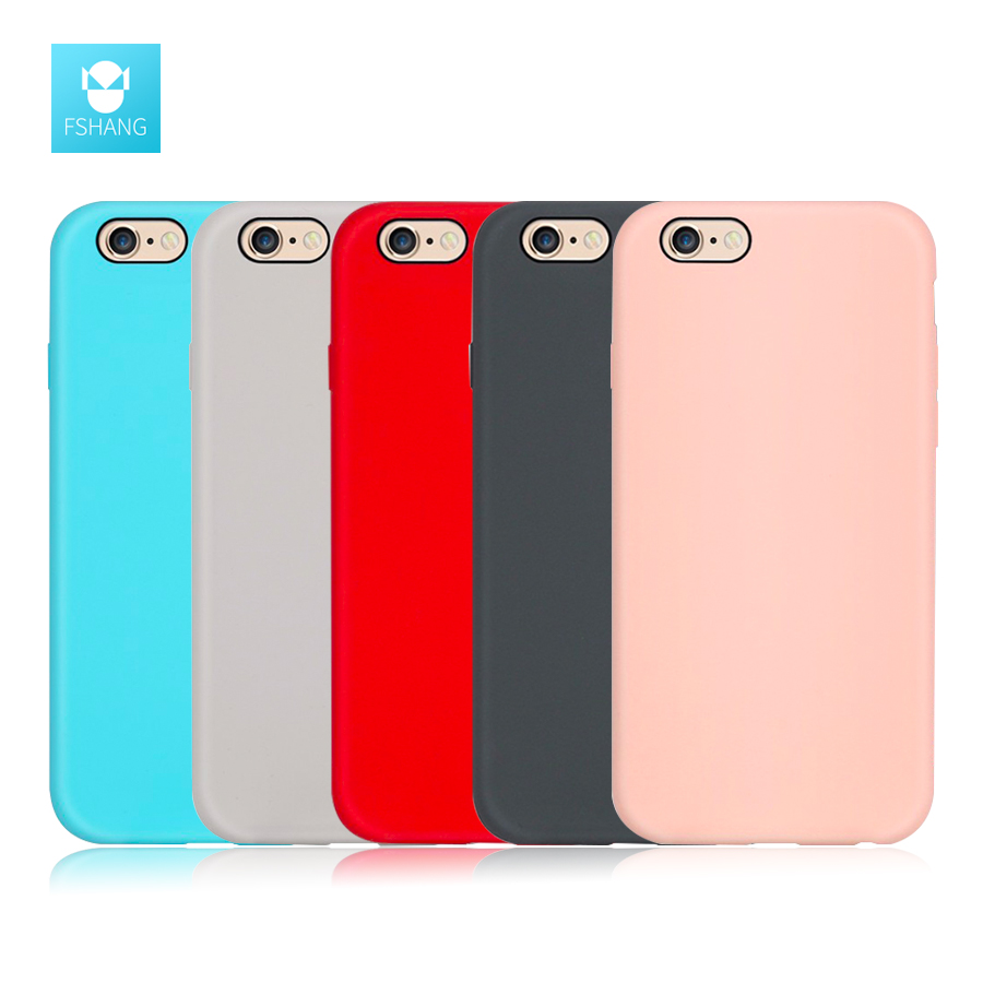 FSHANG Phone Cases for iphone 6 Case Liquid silicone Skin friendly Phone Back Cover for iphone