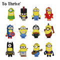 Real 4400mAh Power Bank 3D Minions Style Cute Cartoon Mobile Power Charger Battery Backup