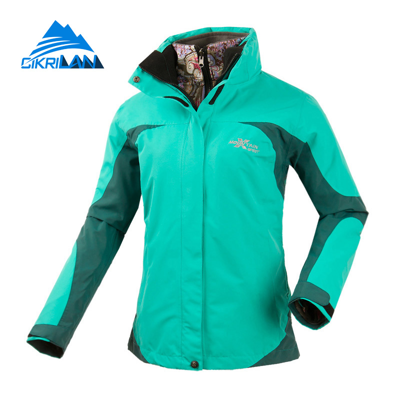 Cikrilan Stylish Camping Climbing Outdoor 2in1 Thermal Winter Jacket Women Windbreaker Water Repellent Outwear Chaquetas Mujer hot sale windstopper water resistant coat 2in1 hiking winter jacket women outdoor veste breathable camping chaquetas mujer