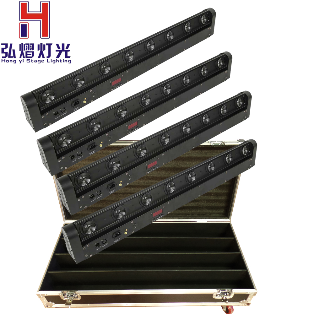 2016 Hot 4pcs/lot Flight Case LED Bar Beam Moving Head Light RGBW 8x12W Perfect for Mobile DJ, Party, nightclub fast shipping стоимость