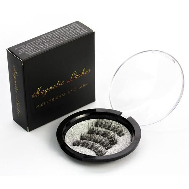 Shozy Magnetic eyelashes with 3 magnets handmade 3D magnet lashes natural false eyelashes comfortable with Gift Box-KS02-3