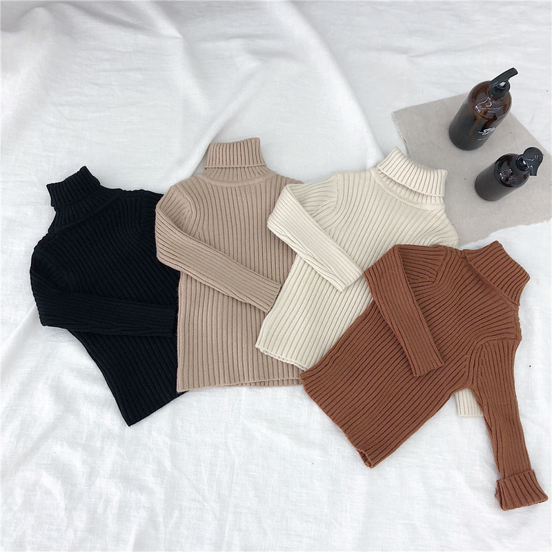 Pullovers, Outerwear, Turtleneck, Knitted, Girls, Baby