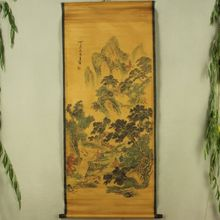 Antique collection Boutique Calligraphy and painting the Wang Jian send tea diagram