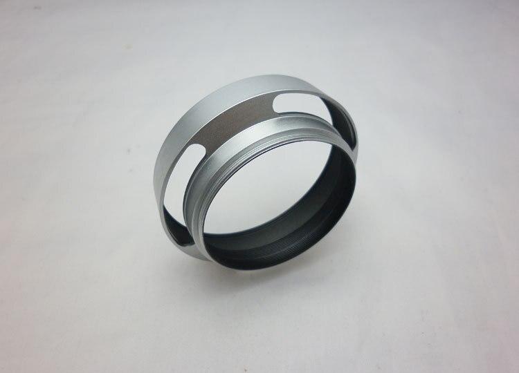 Камера 52 мм серебристого металла наклонная бленда тени