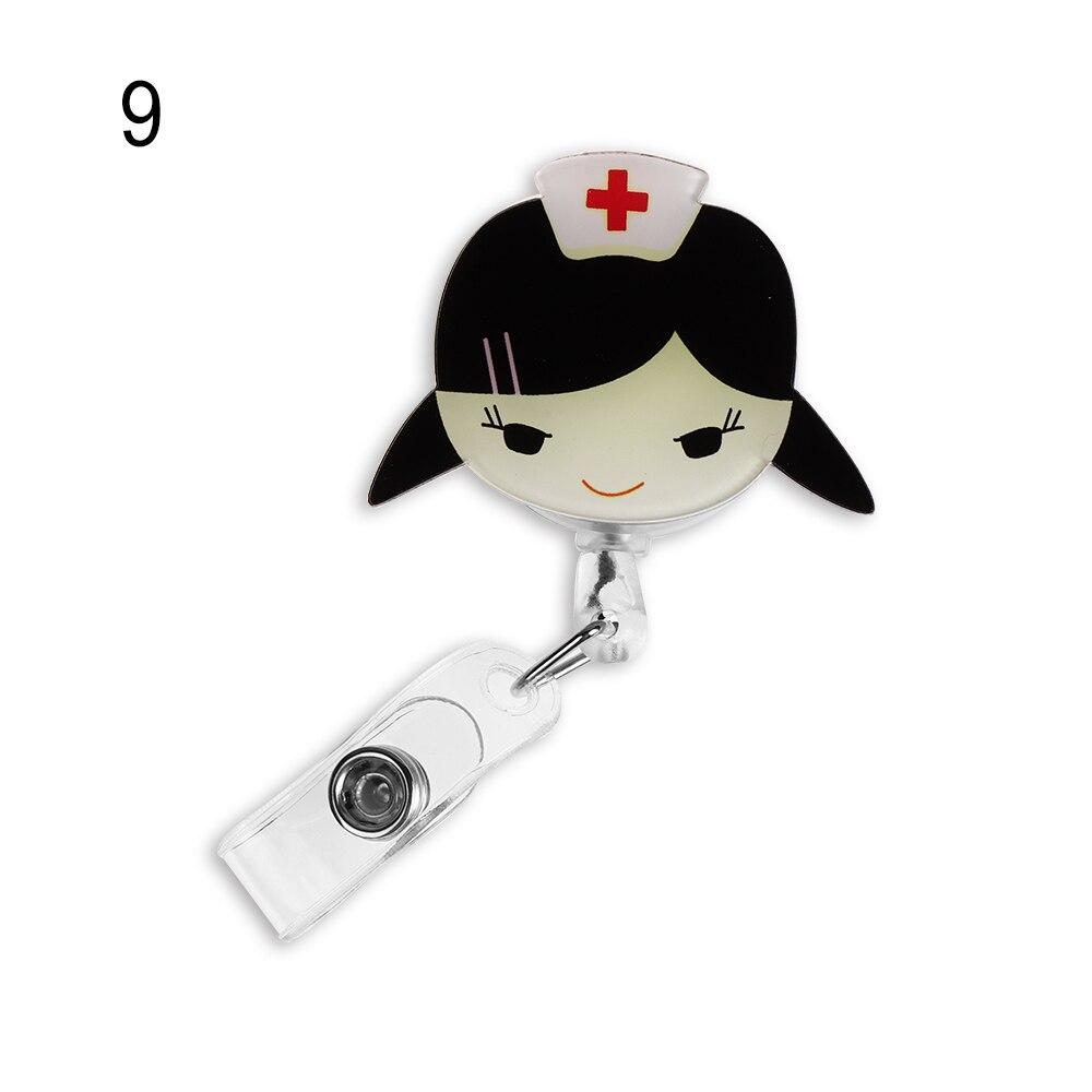 1 шт. Милая мультяшная мини-выдвижная катушка для бейджа медсестры Lanyards ID Имя карты держатель для бейджа клип студенческий значок медсестры держатель офис S - Цвет: 9