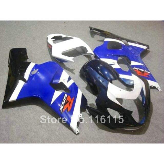 US $333 0 10% OFF|Hot sale fairing kit for SUZUKI GSXR 600 750 K4 2004 2005  white blue black GSXR600 GSXR750 04 05 fairings LX71-in Covers &