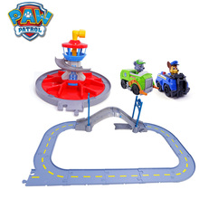 Paw Patrol Dog Lookout tower Toys Rescue track Toy Set Patrulla Canina Action Figure Model for Children