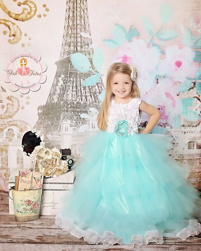 Adorable Tulle Ball Gowns Lace Appliques Mint Sleeveless Rosette Ruffle Tiered Tutu Flower Girl Wedding Dress Sash 2-12 Year Old baby fashion prom ball gowns tea length bateau neckline tulle flower mint blue tutu vestidos backless back mint girls dress