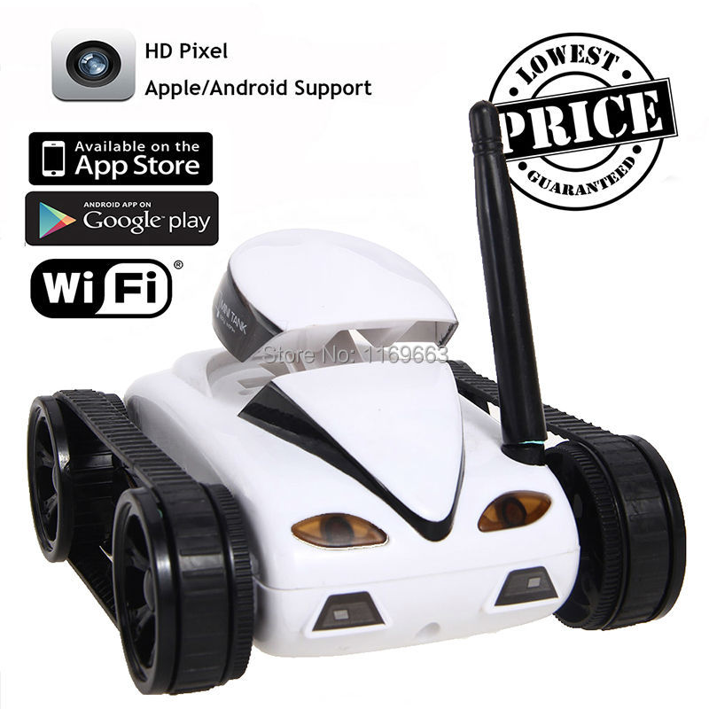 Classic  Mini  I Spy Tank Car Video 0.3MP Camera 777-270 WiFi RC Tank  By Iphone Android EMS Photo 4CH APP RC Tank