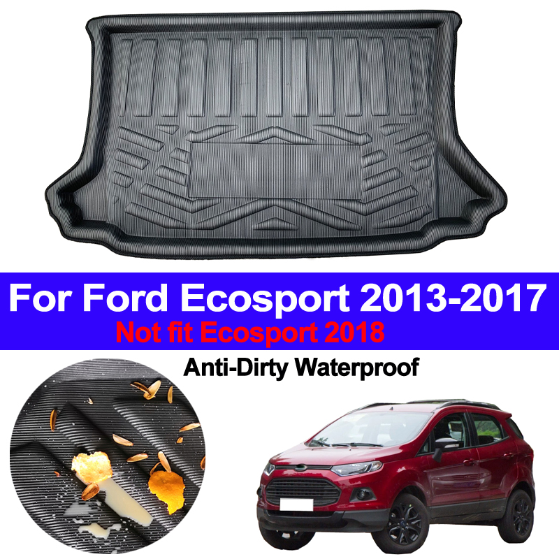 Car Rear Boot Cargo Liner Trunk Floor Mat Carpets Luggage Tray Mats Pad Mat Carpet For Ford Ecosport 2013 2014 2015 2016 2017|  - title=