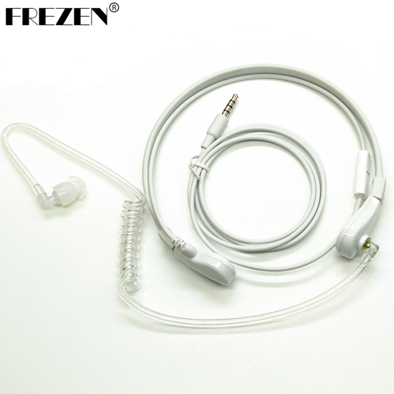 1 Pin 3.5mm Throat MIC Headset Covert Air Tube Earpiece For Iphone Xiaomi Phone Mobile Phone