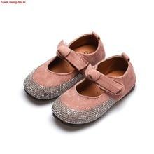 aef6aff11911f HaoChengJiaDe enfants talons plats princesse chaussures printemps automne  strass arc fleur filles chaussures de mariage pour