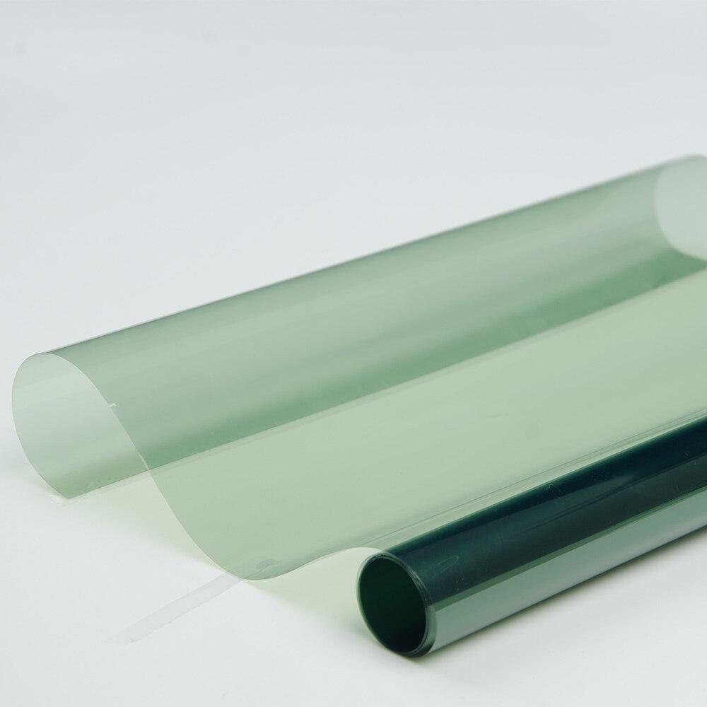 100cm largeur 70% VLT 100% UV vert voiture pare-soleil fenêtre teinte Film 2PLY Auto soleil ombre maison commerciale fenêtre teinte Film