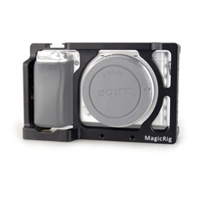 MAGICRIG estabilizador de jaula de cámara para Sony A6400/ A6000/ A6300/ A6500/ ILCE 6500/ NEX7 DSLR, Monitor de micrófono de montaje en jaula 501