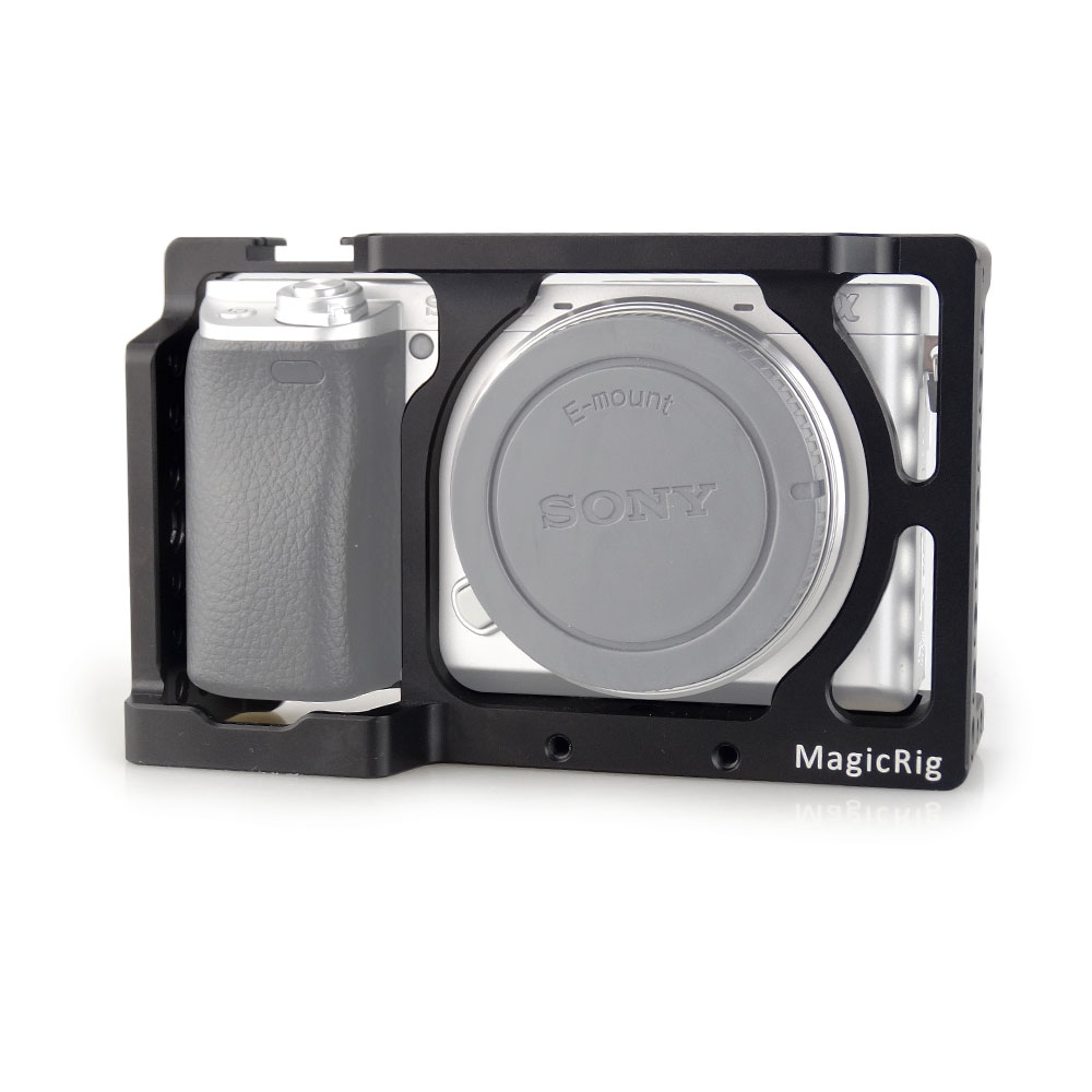 MAGICRIG <font><b>Camera</b></font> Cage Stabilizer For <font><b>Sony</b></font> A6400/ A6000/ A6300/ A6500/ ILCE-<font><b>6500</b></font>/ NEX7 DSLR Cage Mount Microphone Monitor -501 image