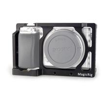MAGICRIG stabilisateur de Cage de caméra pour Sony A6400/A6000/A6300/A6500/ILCE 6500/NEX7 DSLR moniteur de Microphone à Cage 501
